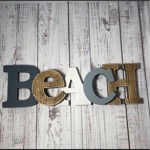 Other - BEACH 🏝 Sign/ Beach Theme/ Ocean, Lakeside Decor